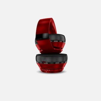 Красный наушники макет