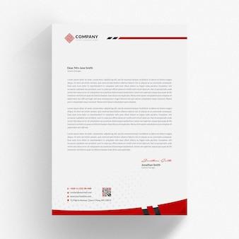 Red letterhead mockup