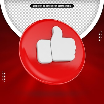 Red like icon for social media