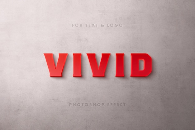 Red matte text effect
