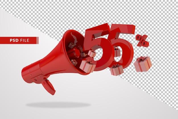 55パーセントの赤いメガホン