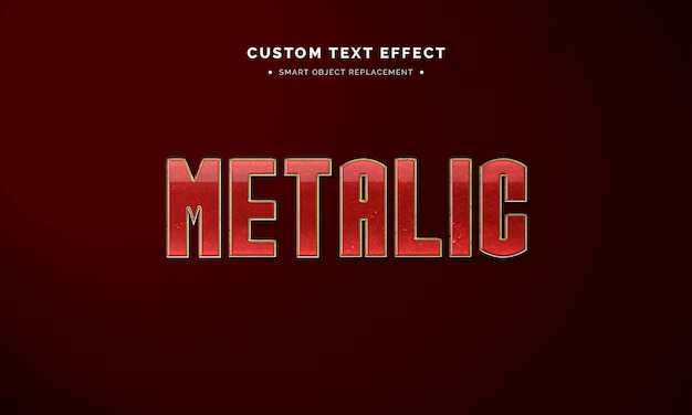 Red metallic 3d text style effect