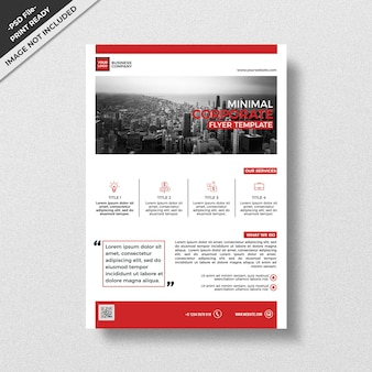 Red minimal professional design modern style flyer template
