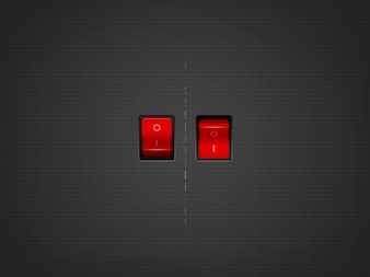 Red on   off switch