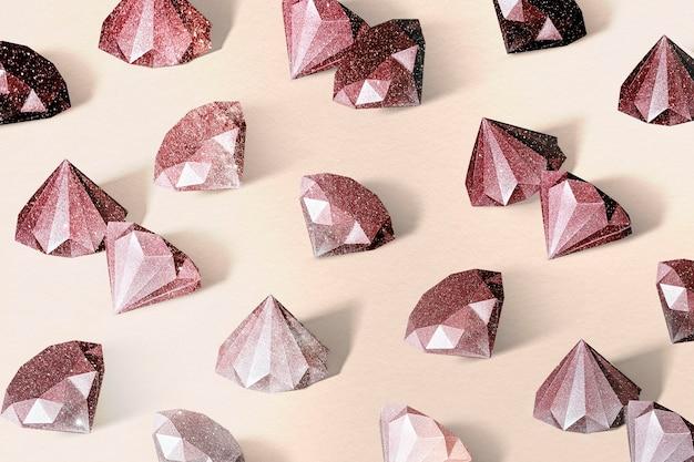 赤いペーパークラフトダイヤモンド模様の背景