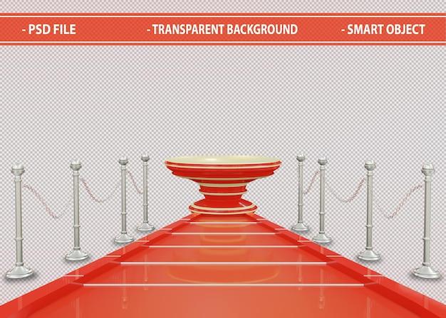 赤い表彰台ステージ