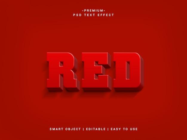 Красный премиум psd текстовый эффект
