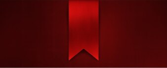 Red ribbon with pointy tip