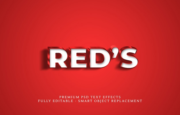 Эффект стиля текста red