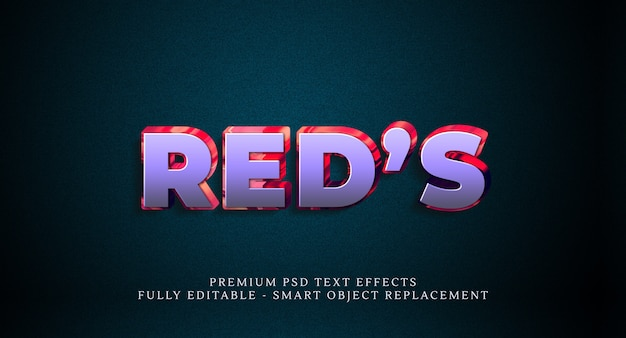 Red's text style effect