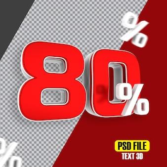 プロモーションの80%オフの赤いセール