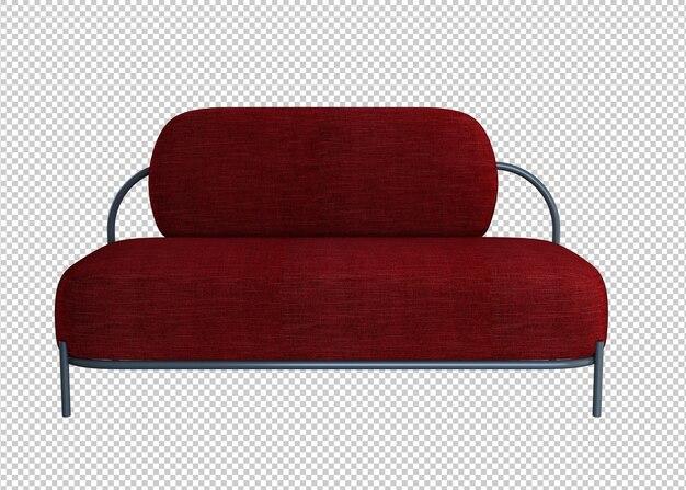 빨간 소파 3d 렌더링