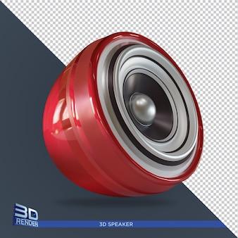 分離された赤いスピーカー3dレンダリングデザイン