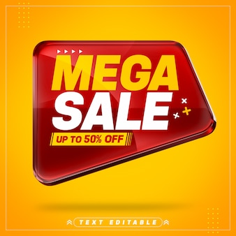 Red super sale 3d banner