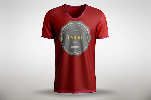 Red t-shirt mock up