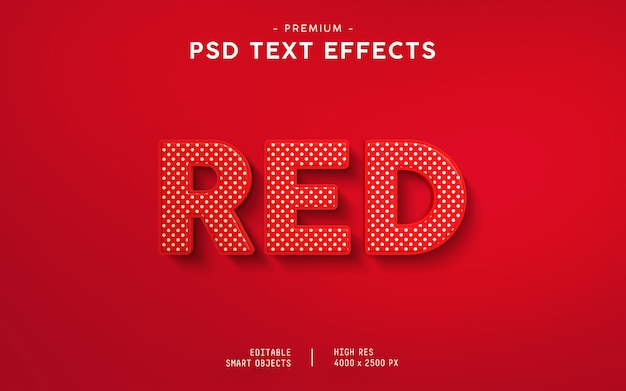 Red text effect