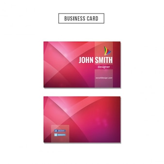 Red wavy business card