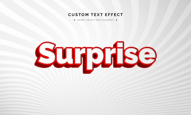 Red and white 3d text style effect