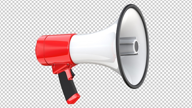 Red and white megaphone