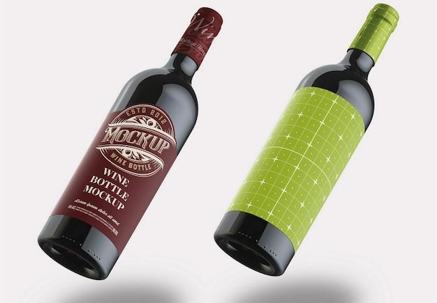 레드 와인 병 모형