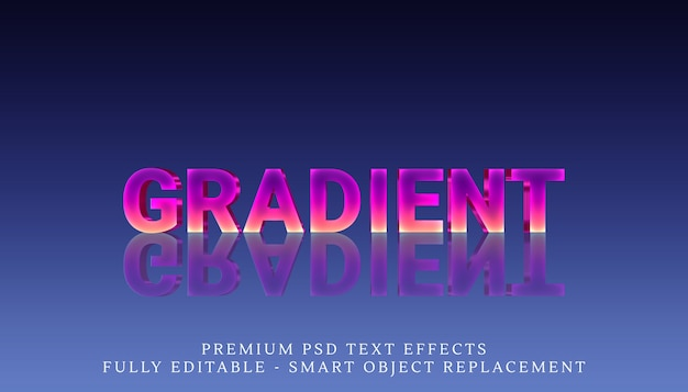Reflected gradient text style effect