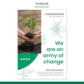 Reforestation ad flyer template