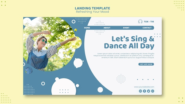 Refresh your mood landing page template