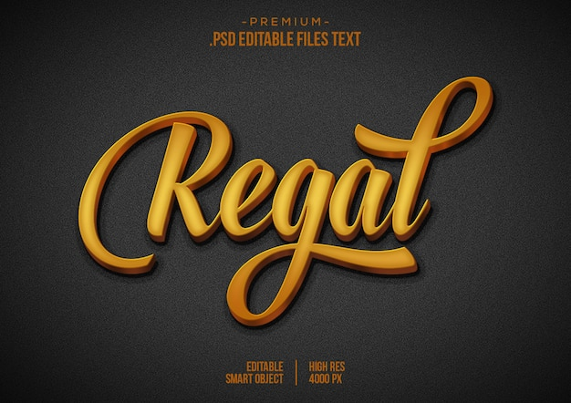 Regal text effect