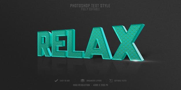 Расслабьтесь дизайн шаблона эффекта стиля текста 3d
