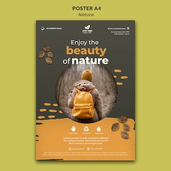 Relax in nature poster template