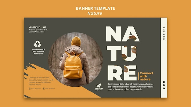 Relax with nature banner template