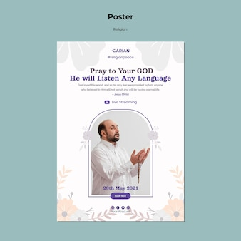 Religions concept poster template