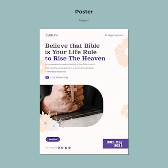 Religions poster template
