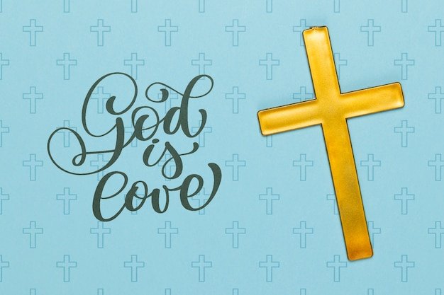 Religious concept with cross