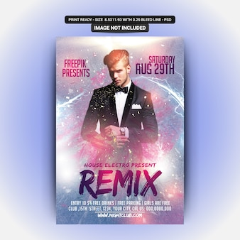 Remix party flyer template