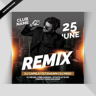 Remix party flyer Premium Psd
