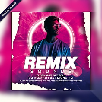 Remix sound party flyer