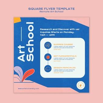 Remote art school squared flyer