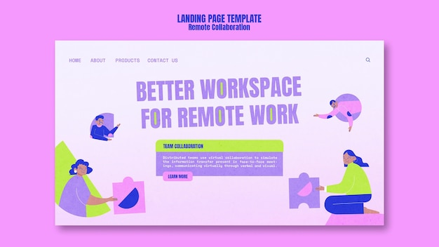 Remote collaboration homepage template