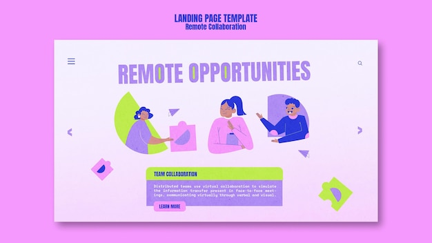 Remote collaboration homepage