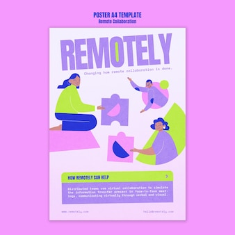 Remote collaboration poster template