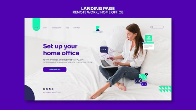 Remote working landing page