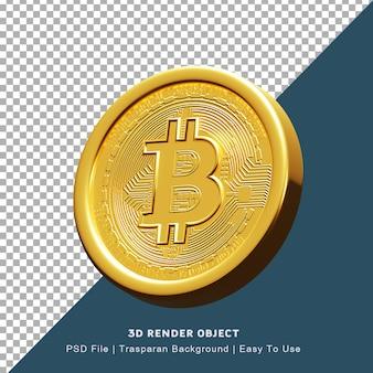 Рендеринг 3d постер блокчейн криптовалюта биткойн