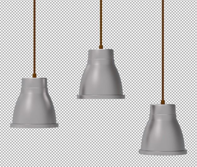 Render of isolated ceiling lamp