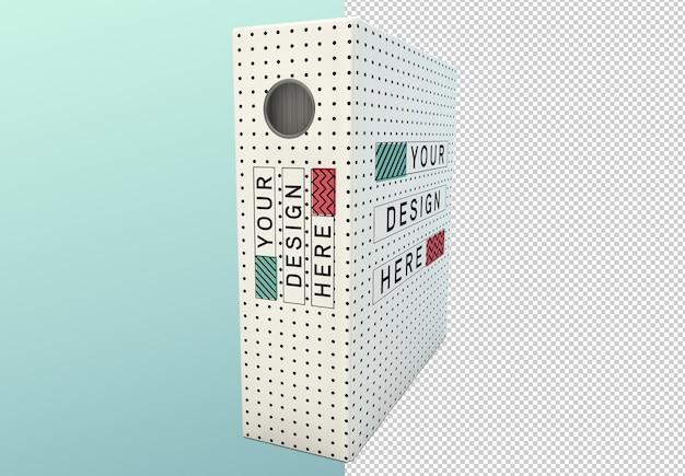 Визуализация изолированного белого пустого макета папки связующего