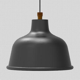 투명에 고립 된 천장 램프의 렌더링
