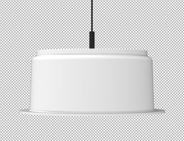 격리 된 천장 램프의 렌더링 프리미엄 PSD 파일