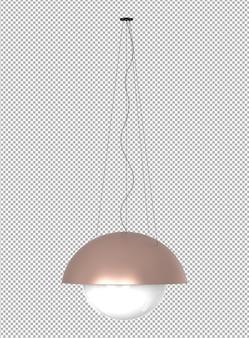 격리 된 천장 램프의 렌더링