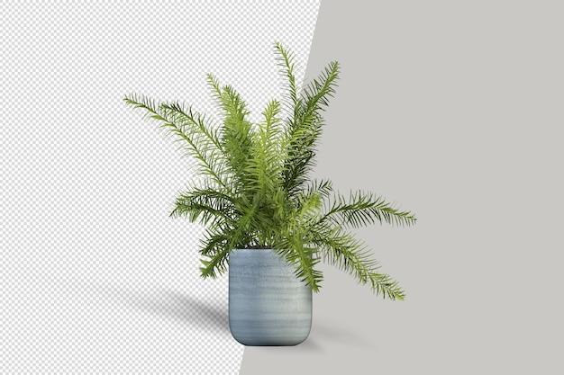 Визуализация изолированного растения в горшке