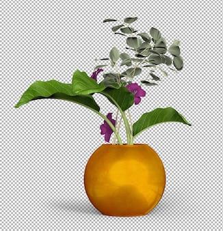 고립 된 식물의 렌더링.